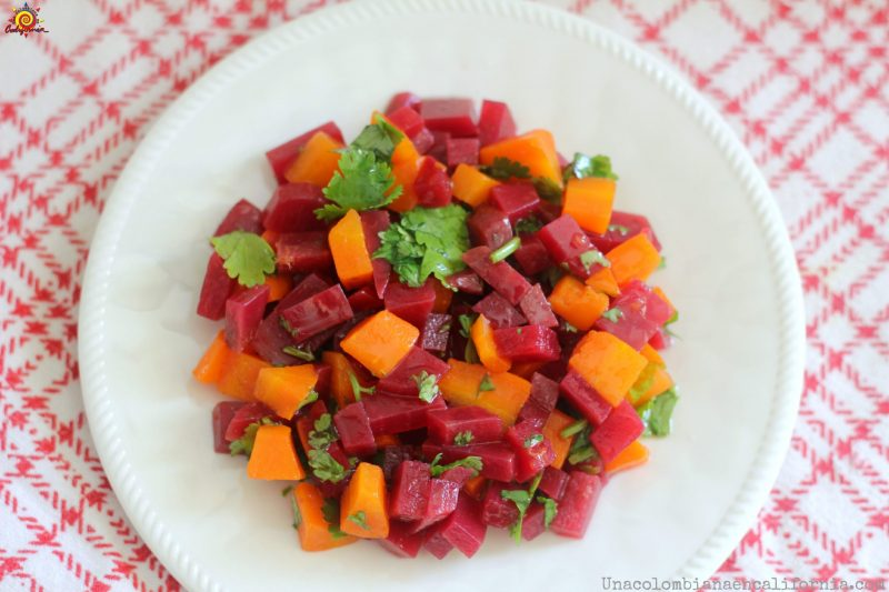Colombian beet and carrot salad