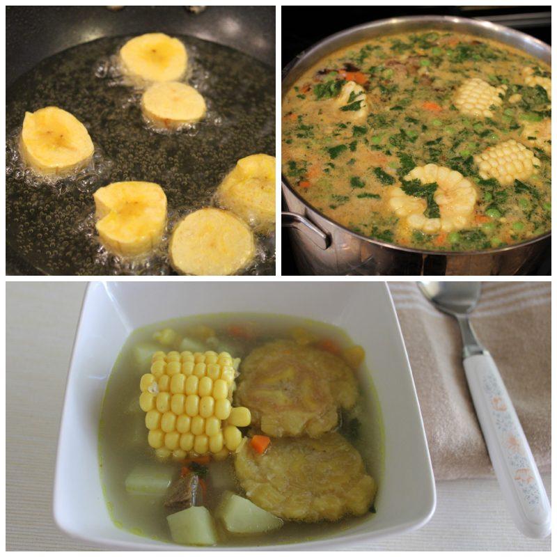 fried green plantain soup patacon soup