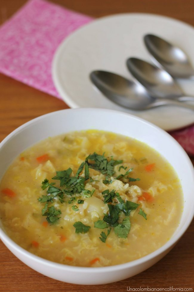colombian rice soup