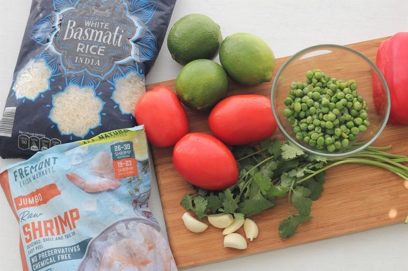 arroz con camarones ingredientes