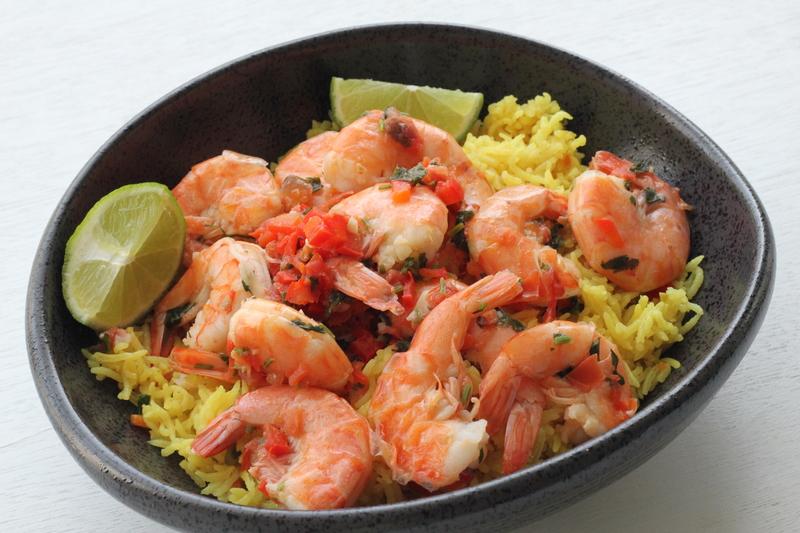 arroz con camarones criollos
